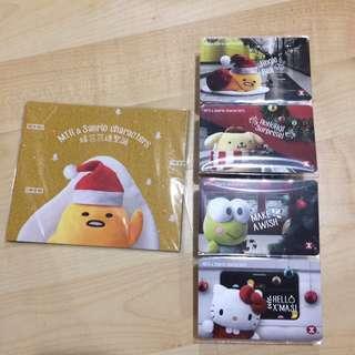 MTR & Sanrio characters 暖笠笠過聖誕紀念車票