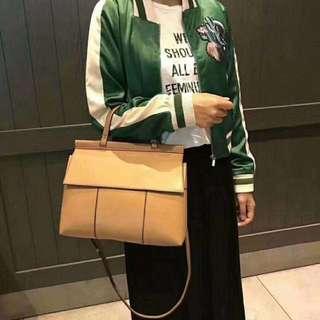 Tory Burch T satchel handbag 牛皮 尺寸:30*24.5*11CM