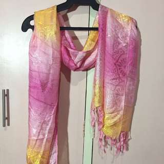 Scarf Pink and Yellow