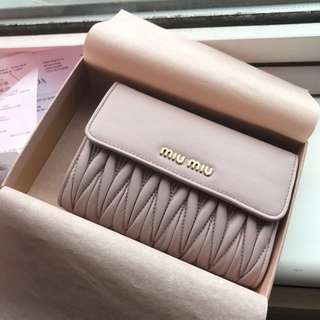 Miu Miu classic matelassé leather wallet