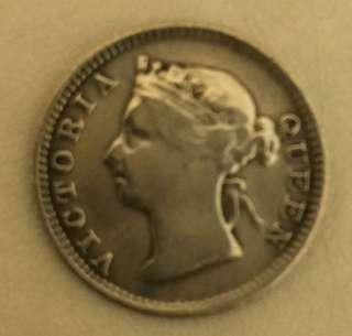香港5仙銀幣1899年和民國9年貳毫銀幣