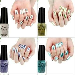(Left 4) Metallic Nail Polish