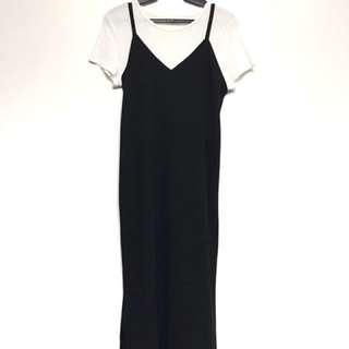 Black Long Dress - perfect with white shirt