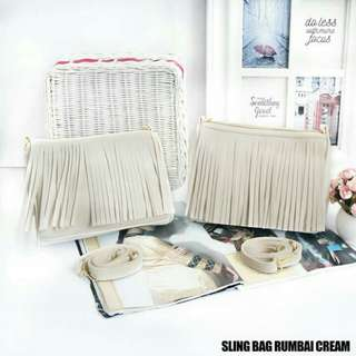 Sling Bag Rumbai Cream