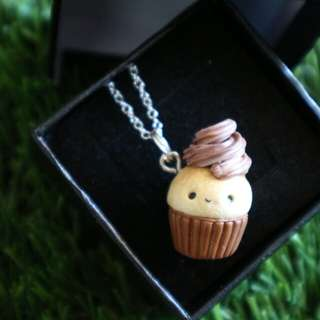 Cupcake Polymer Charm Necklace