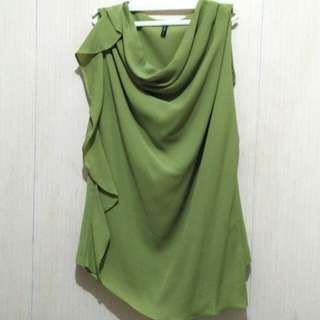 Green Drapery blouse
