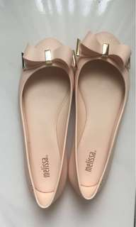 MELISSA SPACE LOVE PINK BEIGE FLAT SHOES AUTHENTIC