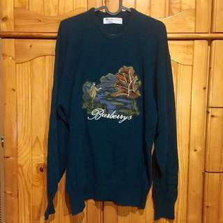 Sale//Burberrys embroidered wool knitwear vintage