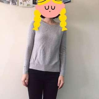 灰色 針織毛衣 針織衫
