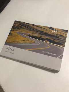 Mercedes-Benz B-Class Owner's Manual Handbook