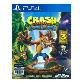 PS4 Crash Bandicoot N-Sane Trilogy (R3) Free Sock