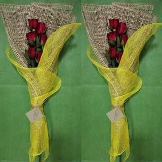 6 Roses Flower Arrangement