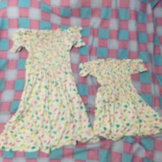 MOM AND DAUGHTER OFFSHOULDER DRESS