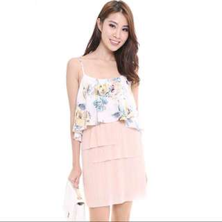 MDS Maci Overlay Top in Floral