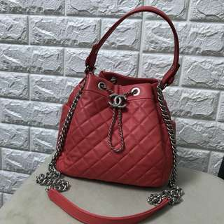 Chanel chain shoulder 2way bucket bag