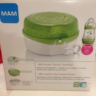 MAM microwave bottle steriliser