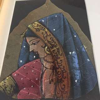 Indian Painting On Dried Leaves