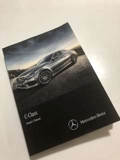 Mercedes-Benz C-Class (W205) Owner's Manual Handbook