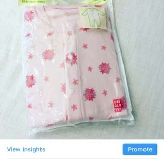 Uniqlo sleepsuit for girls (pink)