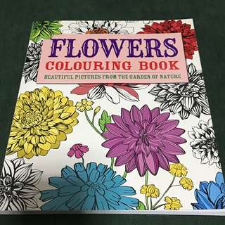 Flowers Colouring Book : Beautiful Pictures from the Garden of Nature