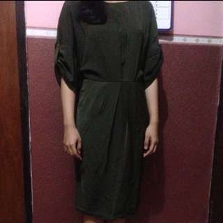 ZALORA Olive Dress