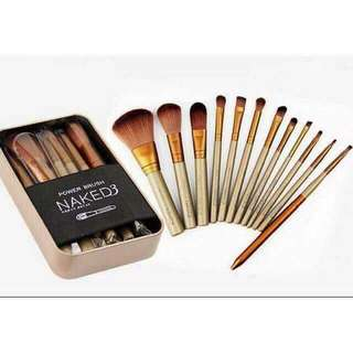 12pc Naked3 Makeup Brush Set