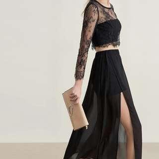 正貨 尺碼圖可pm  女神 謝師宴 graddin dress little black dress