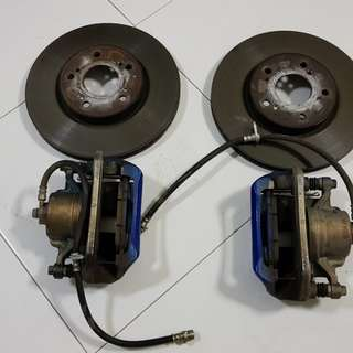 Lightly Used Vezel Stock Front Caliper and Rotor Set