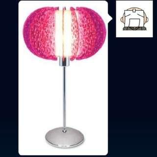 (限量版) 紅A仿水晶座檯燈 香港製造 塑膠經典名牌-紫色