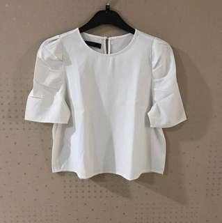 White TOP Zara inspired