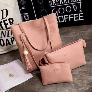 Jingoin 3in1 Bag Pink with zipper