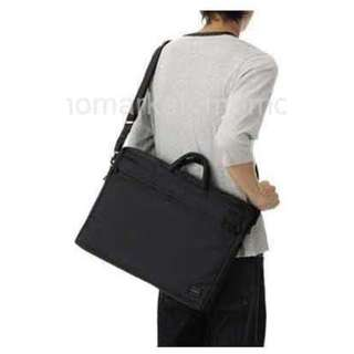 porter防水尼龍手挽袋斜咩袋shoulder bag公事包2 way MacBook Pro - 17 inch briefcase business bag返工袋側背包黑色 Black