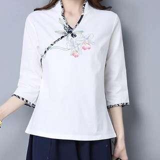 Cheongsam style top