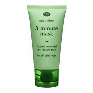 boots cucumber 3 minute mask