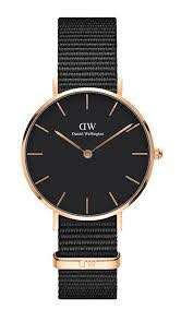 Daniel Wellington 32mm petite black Nato