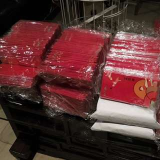 Bulk Sale 2018 UOB Dog Ang pao red packet 8 pcs a pack craft material