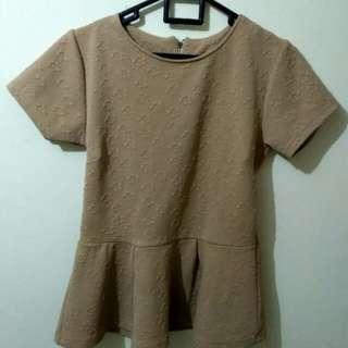 Brown Blouse /Top