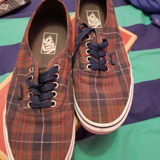 Jual Vans Authentic Dress Blue (Plaid) ORIGINAL !