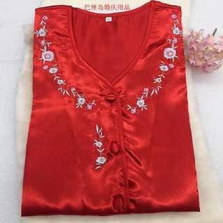 新娘上頭紅睡衣
