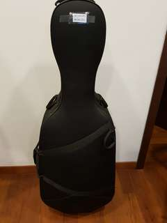 Hard cello case for sale (4/4 size)