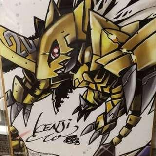 Digimon Zubamon Poster Vpet 20th Digital Monster