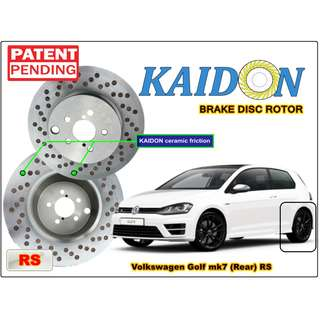 "Volkswagen Golf MK7 brake disc rotor KAIDON (REAR) type ""RS"" / ""BS"" spec"