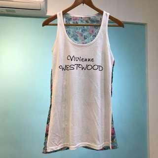 Vivian Westwood 長版上衣背後雪紡紗 T恤