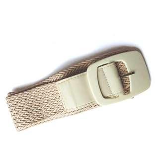 Beige Chunky Belt