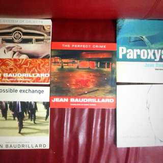 Philosophy books by Baudrillard