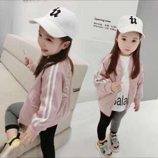 春季新款 韓版 女童粉嫩色系棒球外套