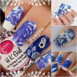 SHARE THIS ITEM :   1 sheet Colored Floral Flower Patterns Nail Water Decals Transfer Stickers  # 8095
