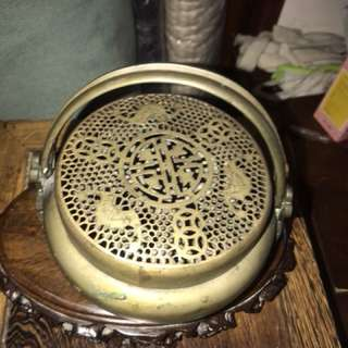 Antique brass incense burner