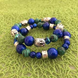 Traditional Asian design Buddha head bead bracelet