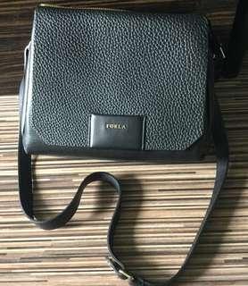 Sale!! Furla full black leather bag